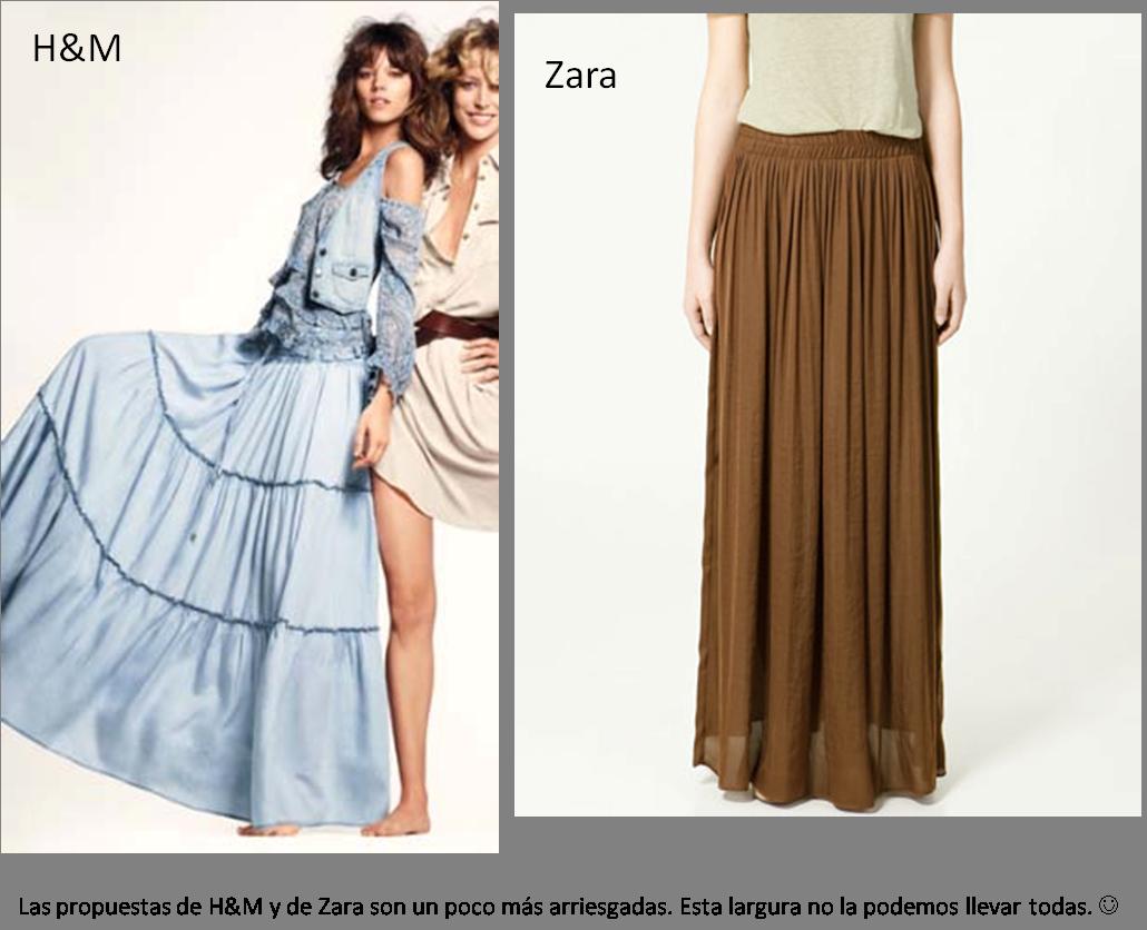 tendencias para esta Primavera van a ser las faldas largas y faldas ...
