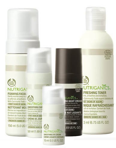 linea Nutriganics de The Body Shop 2011
