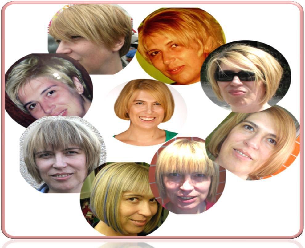 Algunos de mis cambios de pelo y color a lo largo de los años