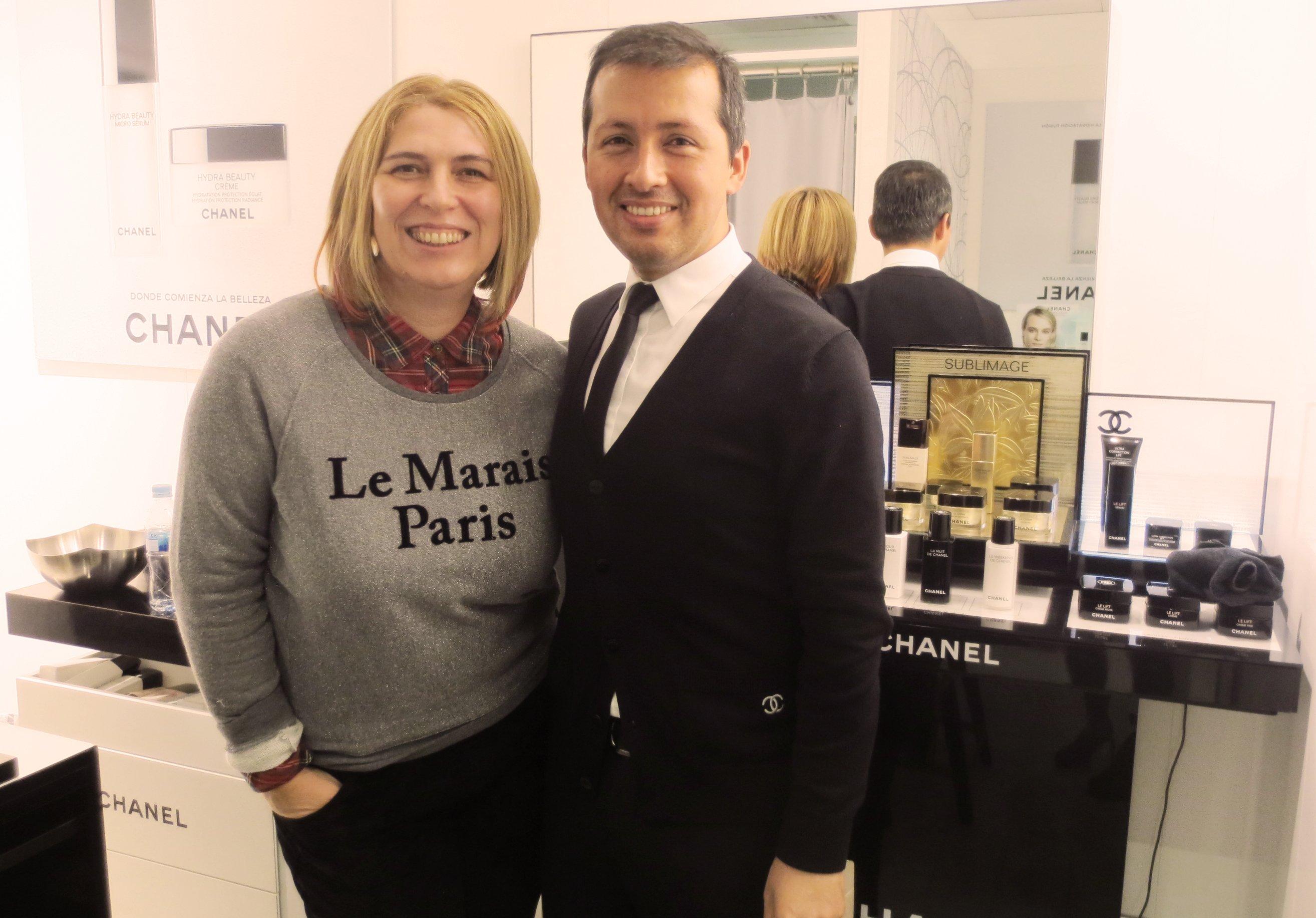 Con Miguel MO Chanel